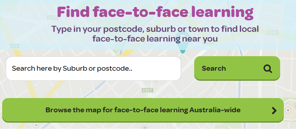 Search for Face-to-Face learning events on Go Digi