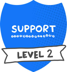 Mentor level 2 badge - Support